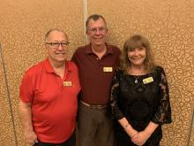 AFC 2020 Officers Treasurer Ken Adrian, Secretary Larry Jensen and President Lennette Horton VP Ira Adler missing